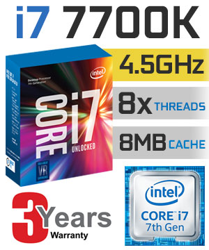 CPU Intel Core i7-7700K 4.2 GHz / 8MB / HD 630 Series Graphics / Socket 1151 (Kabylake)