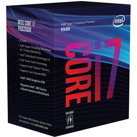 Intel Core i7-8700 3.2 GHz / 12MB / UHD 630 Series Graphics / Socket 1151 (Coffee lake)
