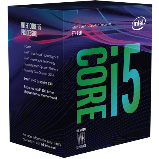 Intel Core i5-8600K 3.6 GHz / 9MB / UHD 630 Series Graphics / Socket 1151 (Coffee lake)