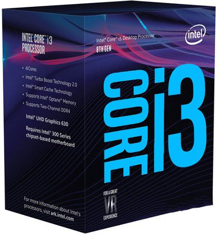 Intel Core i3-8100 3.6 GHz / 6MB / UHD 630 Series Graphics / Socket 1151 (Coffee lake)