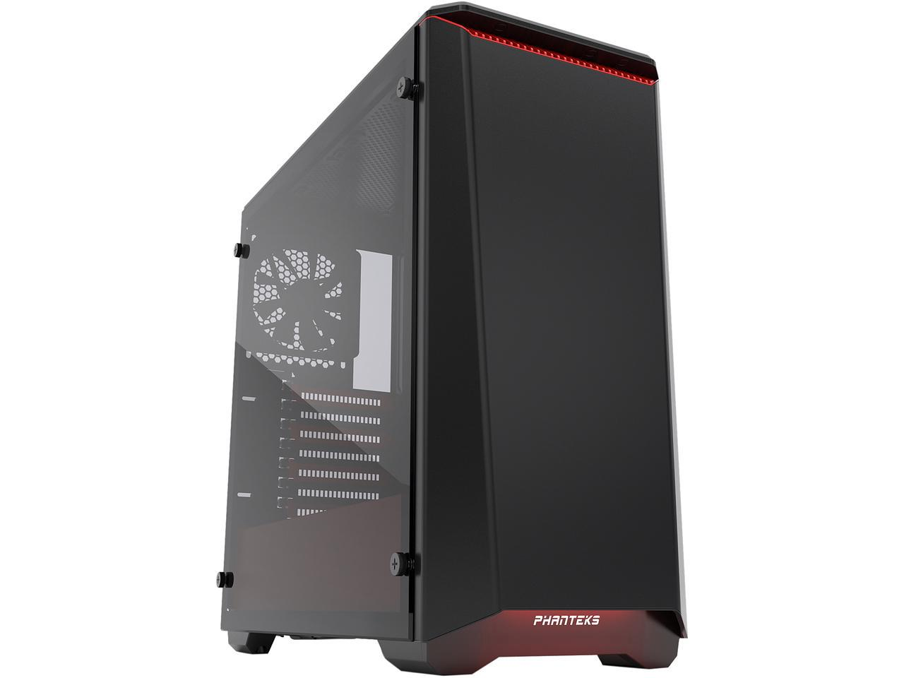 Phanteks Eclipse P400S Black/Red Tempered Glass - RGB Mid-Tower