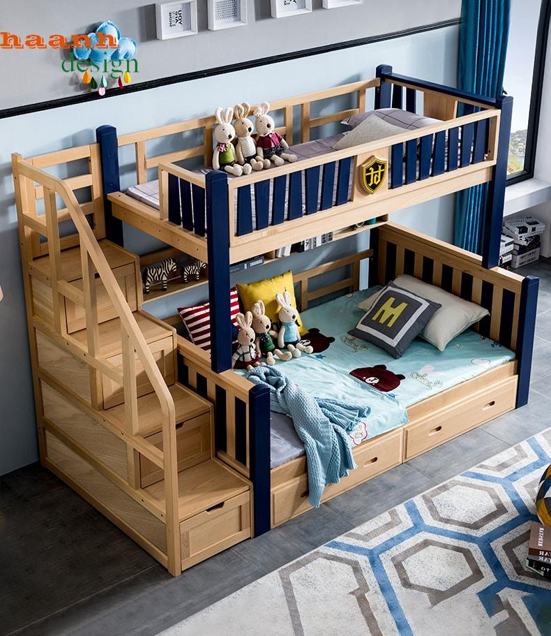 Giường tầng cho bé trai sản phẩm mới nhiều sáng tạo hiện đại. GTE 040