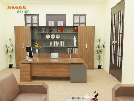 Thiết kế văn phòng chủ tịch liên đoàn lao động.