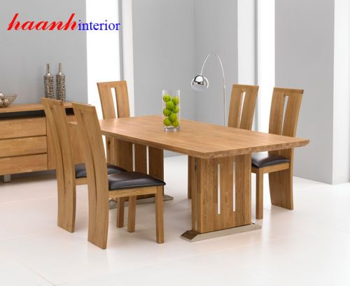 Bàn ghế ăn gỗ tự nhiên BGA003
