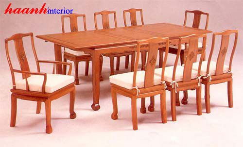 Bàn ghế ăn gỗ tự nhiên BGC001