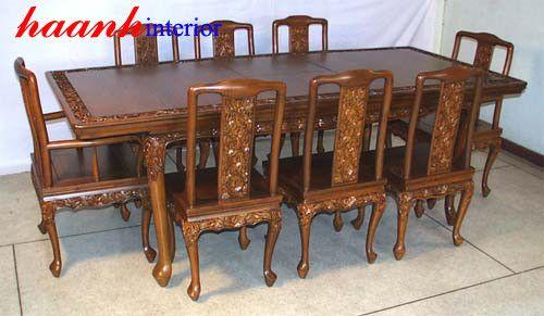 Bàn ghế ăn gỗ tự nhiên BGC003