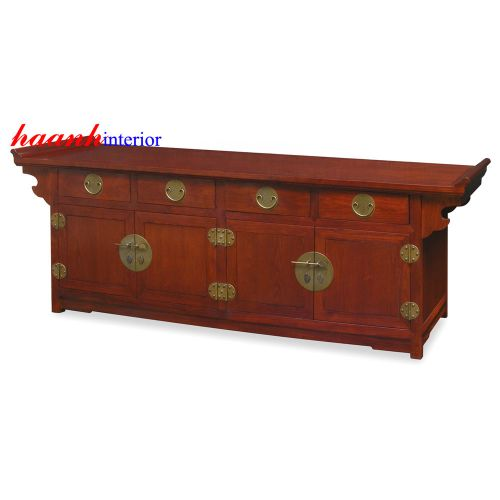 Kệ tivi gỗ gụ đời Minh KTV002