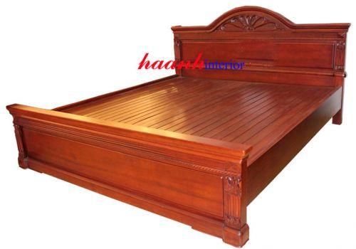 Giường gỗ gụ tự nhiên GIC003