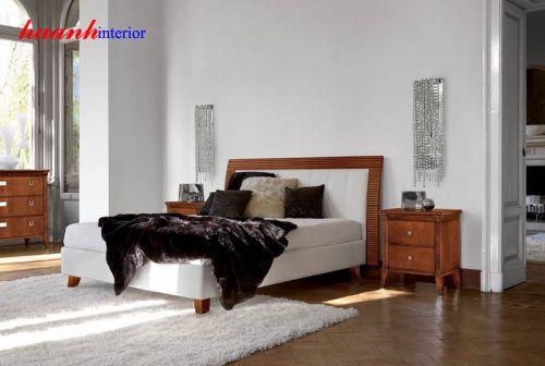 Giường gỗ cổ điển cao cấp GNC002