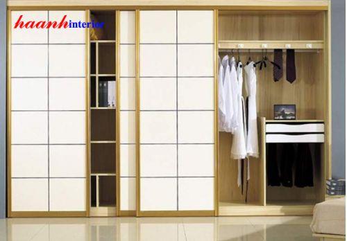 Tủ áo gỗ công nghiệp veneer Sồi TAH004