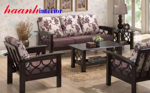 Sofa gỗ tự nhiên cao cấp SFG005