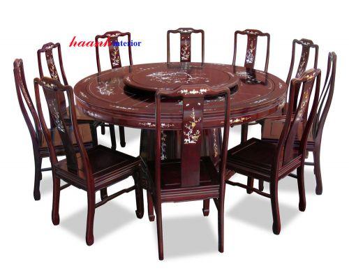 Bàn ghế ăn tròn BGC008