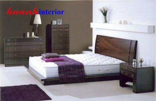 Giường ngủ gỗ veneer GHN011