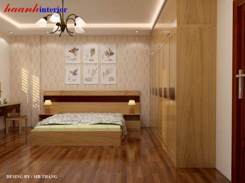 Phòng ngủ gỗ tự nhiên PNH001