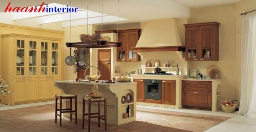 Tủ bếp giả cổ gỗ tự nhiên TBC003