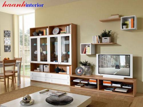 Tủ trang trí phòng khách gỗ công nghiệp TPK017