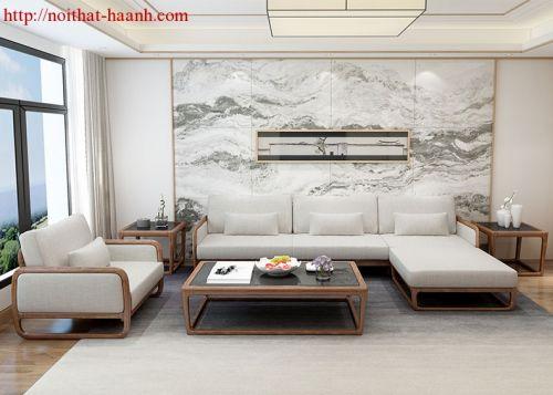 Sofa gỗ tự nhiên phòng khách SFG022