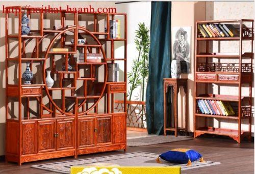 Giá bầy đồ trang trí gỗ tự nhiên GKB009