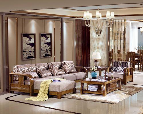Sofa góc gỗ tự nhiên hiện đại SFG 031
