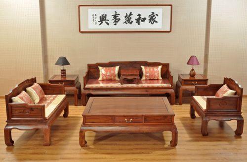 Bàn ghế giả cổ phòng khách gỗ tự nhiên sang trọng.BGG 031