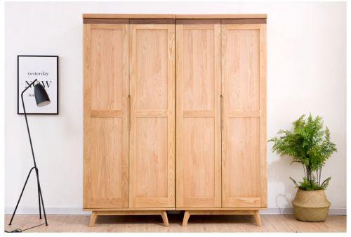 Tủ áo gỗ sồi tự nhiên phong cách hiện đại.TAH 026