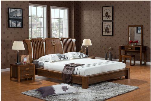 Giường gỗ tự nhiên cao cấp và sang trọng. GNH 035