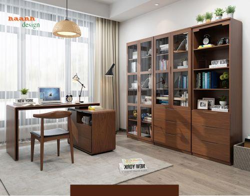 Tủ sách gỗ phòng làm việc sản phẩm cho gia đình. PLVH 022