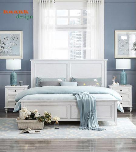 Giường ngủ gỗ tự nhiên đẳng cấp châu âu hiện đại và sang trọng. GNH 004