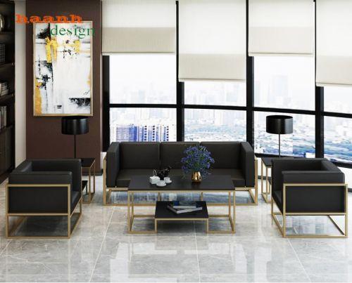 Sofa sắt sơn tĩnh điện kết hợp đệm dả da sang trọng và hiện đại. SFS 004