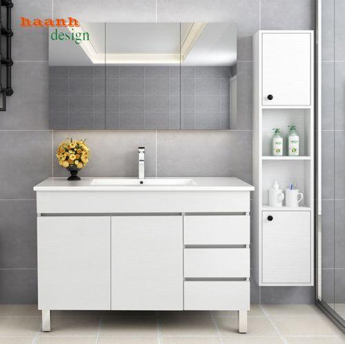 Tủ gỗ Lavabo phòng tắm phong cách hiện đại. LVB 003