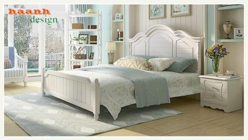 Giường ngủ phòng cưới phong cách châu âu tân cổ điển. HTC 003