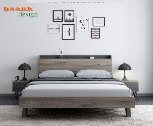 Giường ngủ gỗ công nghiệp phong cách hiện đại. GNH 040