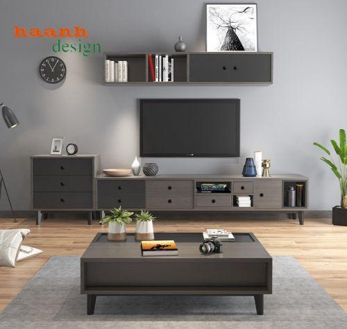 Kệ ti vi phòng khách gỗ công nghiệp công nghệ mới hiện đại KPK 038
