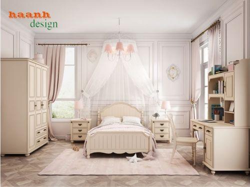 Nội thất phòng ngủ dành cho bé gái, giường ngủ bé gái đáng yêu GTE 042