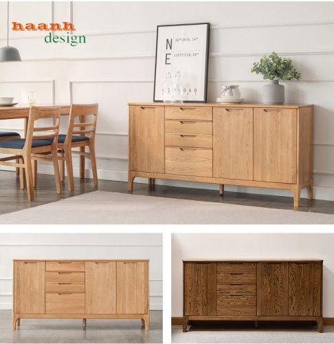 Tủ ngăn kéo gỗ sồi tự nhiên, phong cách hiện đại, thiết kế sáng tạo TKN 006