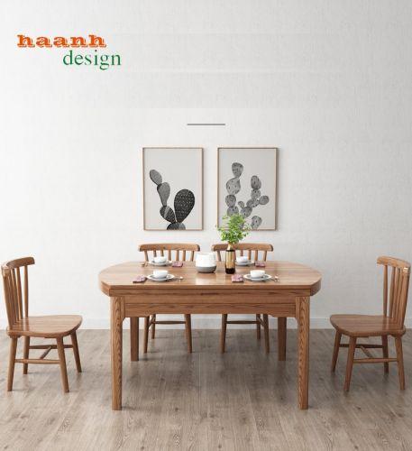 Bàn ghế ăn mở rộng, tiện ích cho không gian nhỏ hẹp.BMR 008