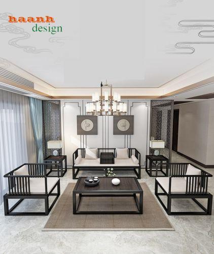 Bàn ghế sofa phòng khách chất liệu sắt sơn tĩnh điện.SFS 013