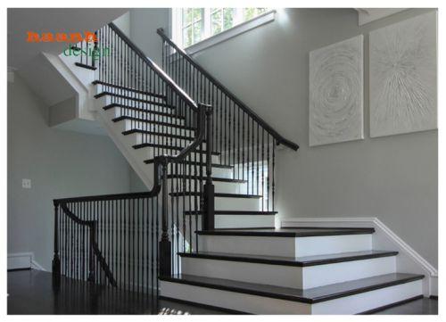 Cầu thang gỗ hiện đại, bền đẹp và sang trọng. CTG 007