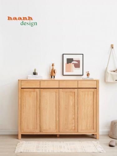 Tủ giày gỗ sồi tự nhiên kiểu dáng hiện đại. TGD 013