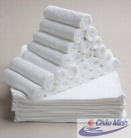 Khăn tay Cotton 25x25cm 30gram dùng trong Khách sạn