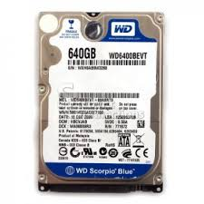 HDD 640G Laptop