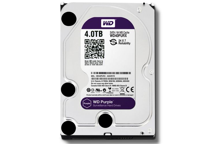 HDD Western Purple 4TB/Sata 3 64Mb