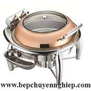 Nồi hâm thức ăn buffet tròn vàng hồng CFK018MJ