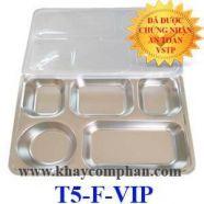 Khay cơm inox 5 ngăn inox 304 - Hàn Quốc - T5-F-VIP