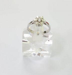 Nhẫn Kim Cương vàng trắng 14k