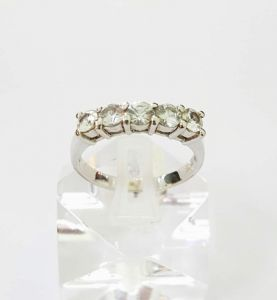 Nhẫn Sapphire vàng trắng 14k