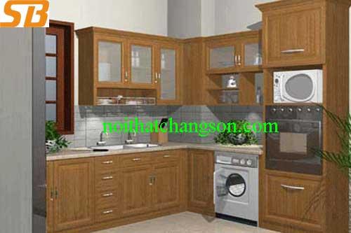 Tủ bếp gỗ tự nhiên tần bì 9