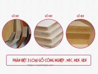 Cách phân biệt 3 loại gỗ công nghiệp: MFC, MDF và HDF