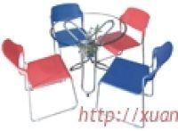 Bộ bàn ghế cafe (bàn tròn) BCM-10-03