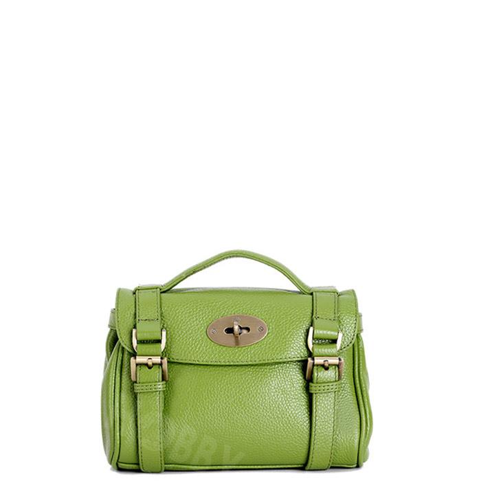 Túi xách nữ mini da thật W-7020-XL màu xanh lá